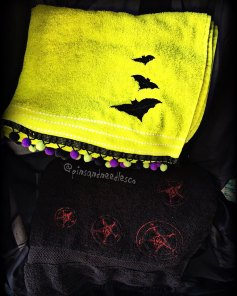 Embroidered and embellished towels