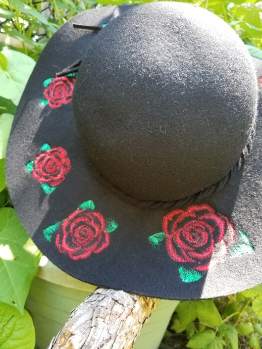 Embroidery on wool hat